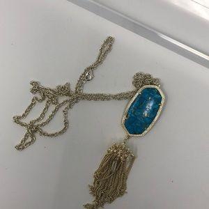 Kendra Scott Rayne Necklace In Bronze veined turq